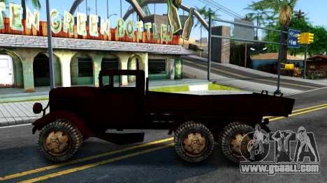 Broken Military Truck for GTA San Andreas left view