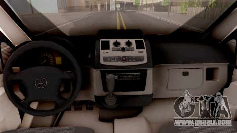 Mercedes-Benz Vito W639 Russian Police for GTA San Andreas inner view