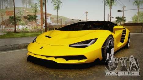 Lamborghini Centenario Roadster for GTA San Andreas right view