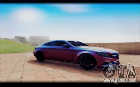 Mersedes-Benz C63 Coupe Tuning for GTA San Andreas