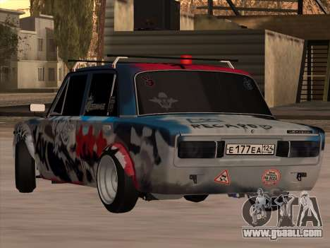 VAZ 2106 BuldozerKilla for GTA San Andreas left view