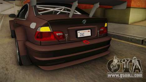 BMW M3 E46 2005 NFS: MW Livery for GTA San Andreas bottom view