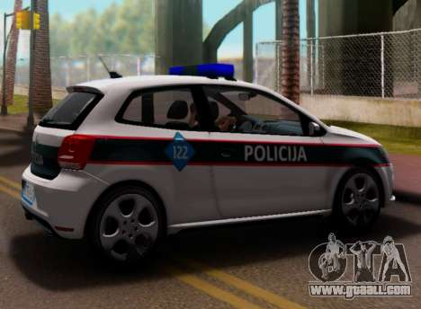 Volkswagen Polo GTI BIH Police Car for GTA San Andreas back view