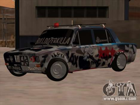 VAZ 2106 BuldozerKilla for GTA San Andreas back left view