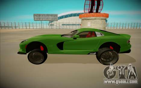 Dodge Viper GTS Off Road for GTA San Andreas back left view