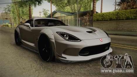 Dodge Viper SRT Tuned for GTA San Andreas right view