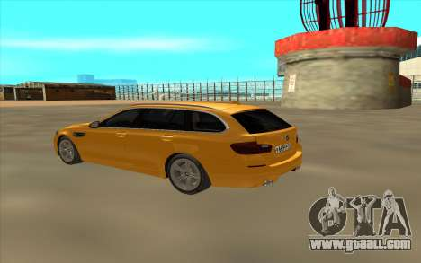 BMW M5 F11 for GTA San Andreas back left view