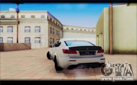 Lexus IS F for GTA San Andreas back view