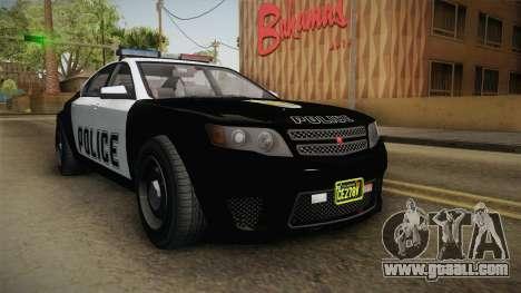 GTA 5 Cheval Fugitive Police IVF for GTA San Andreas