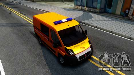 Fiat Ducato Emergency for GTA San Andreas right view