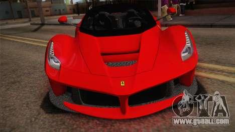 Ferrari LaFerrari for GTA San Andreas right view