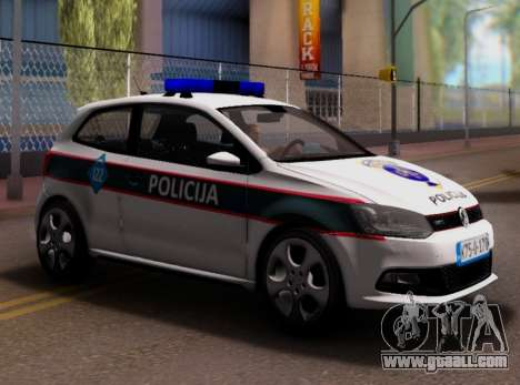 Volkswagen Polo GTI BIH Police Car for GTA San Andreas inner view
