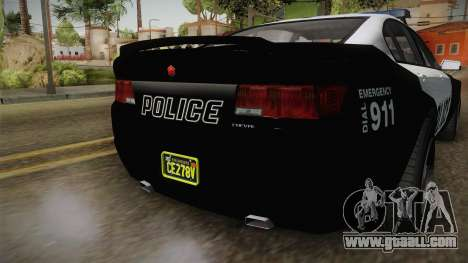 GTA 5 Cheval Fugitive Police for GTA San Andreas back view