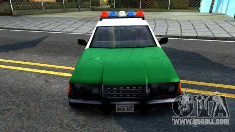 LSPD Police Car for GTA San Andreas inner view