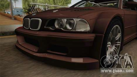 BMW M3 E46 2005 NFS: MW Livery for GTA San Andreas inner view
