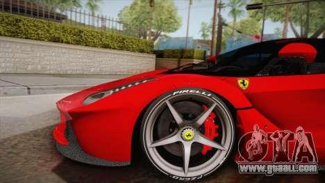 Ferrari LaFerrari for GTA San Andreas back left view