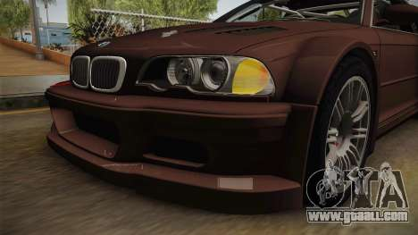 BMW M3 E46 2005 NFS: MW Livery for GTA San Andreas side view