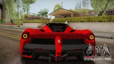 Ferrari LaFerrari for GTA San Andreas upper view