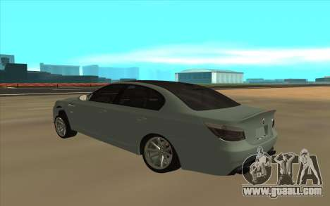 BMW М5 for GTA San Andreas back left view