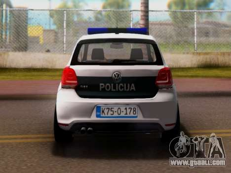 Volkswagen Polo GTI BIH Police Car for GTA San Andreas right view
