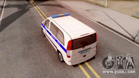 Mercedes-Benz Vito W639 Russian Police for GTA San Andreas back view