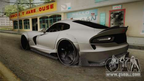 Dodge Viper SRT Tuned for GTA San Andreas left view