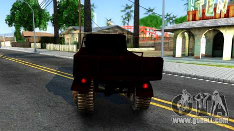 Broken Military Truck for GTA San Andreas back left view