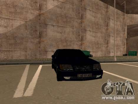 Mercedes-Benz W140 Armenian for GTA San Andreas back view