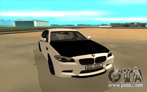 BMW M5 F10 for GTA San Andreas back view