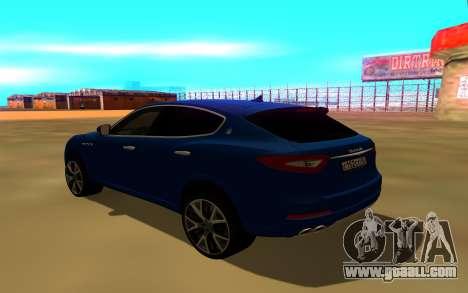 Maserati Levante for GTA San Andreas left view