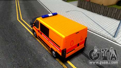 Fiat Ducato Emergency for GTA San Andreas back view
