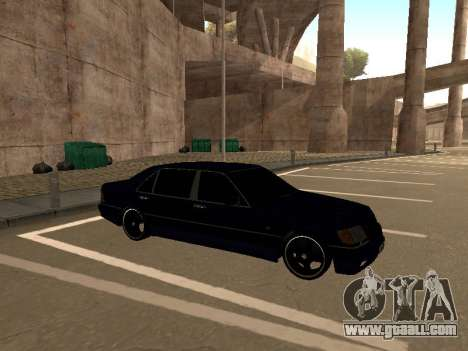 Mercedes-Benz W140 Armenian for GTA San Andreas inner view