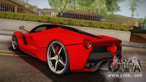 Ferrari LaFerrari for GTA San Andreas left view