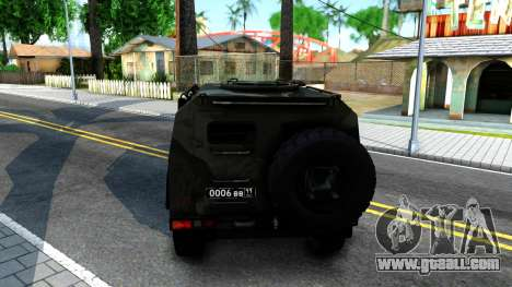 GAZ Tiger 2330 for GTA San Andreas back left view