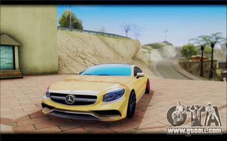 Mercedes-Benz S63 Coupe GOLD for GTA San Andreas right view