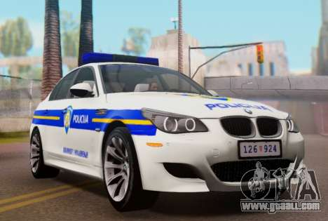BMW M5 Croatian Police Car for GTA San Andreas