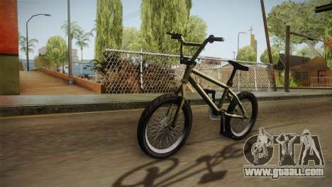 GTA 5 BMX for GTA San Andreas back left view