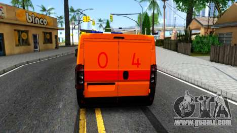 Fiat Ducato Emergency for GTA San Andreas back left view