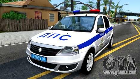 Renault Logan Russian Police for GTA San Andreas