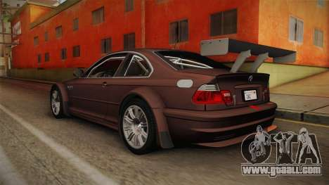 BMW M3 E46 2005 NFS: MW Livery for GTA San Andreas left view