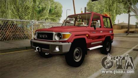 Toyota Land Cruiser J71 2016 for GTA San Andreas back left view