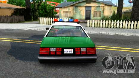 LSPD Police Car for GTA San Andreas back left view