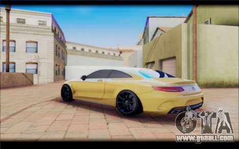 Mercedes-Benz S63 Coupe GOLD for GTA San Andreas back left view