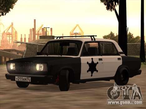 Sheriff HUNTER 2107 for GTA San Andreas
