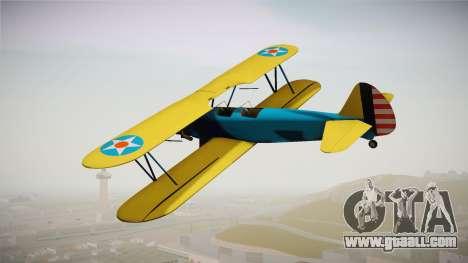 PT-17 Stearman Biplane for GTA San Andreas left view