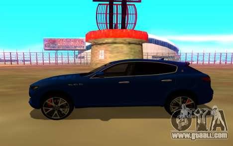 Maserati Levante for GTA San Andreas back left view