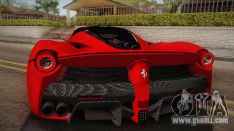 Ferrari LaFerrari for GTA San Andreas inner view