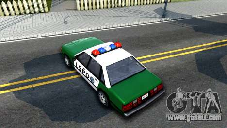 LSPD Police Car for GTA San Andreas back view
