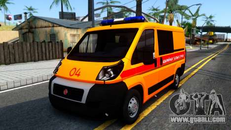 Fiat Ducato Emergency for GTA San Andreas