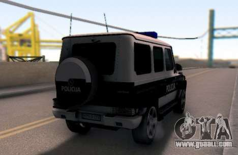 Mercedes-Benz G65 AMG BIH Police Car for GTA San Andreas right view